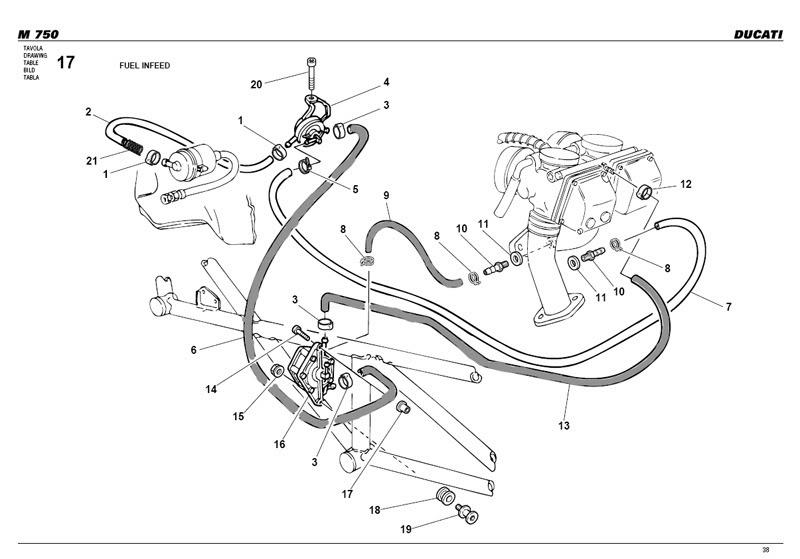 Ducati  Paso Parts Manual
